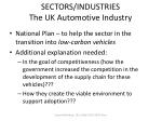 sectors industries the uk automotive industry