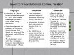 inventors revolutionize communication