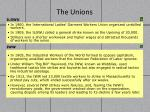 the unions