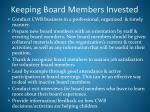 keeping board members invested