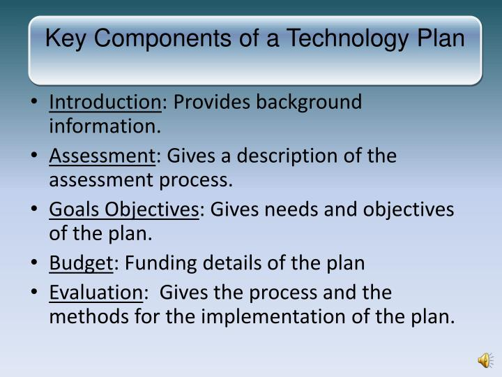 Key Components of a Technology Plan
