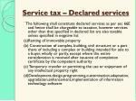 service tax declared services