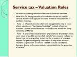 service tax valuation rules