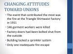 changing attitudes toward unions