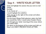 step 4 write your letter