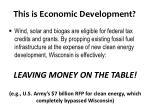 this is economic development