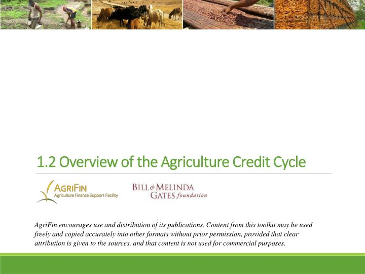 1 2 overview of the agriculture credit cycle n.