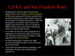 c o r e and the freedom rides