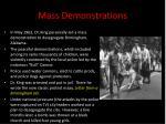 mass demonstrations