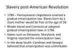 slavery post american revolution