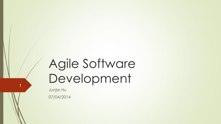 agile software development n.