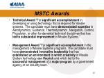 mstc awards