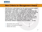 new criteria for management award4