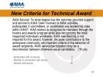 new criteria for technical award4