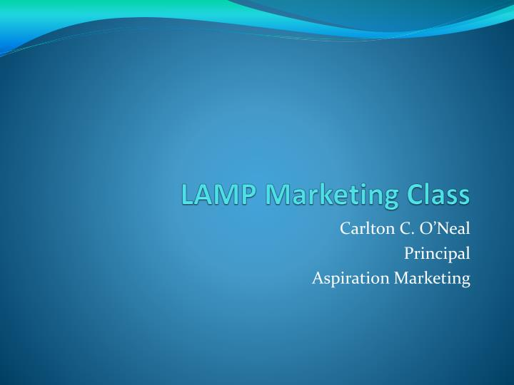 lamp marketing class n.
