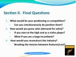 section ii final questions