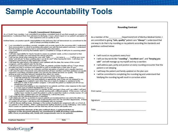Sample Accountability Tools
