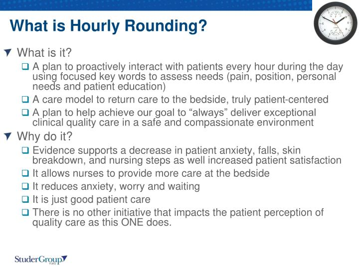 What is Hourly Rounding?