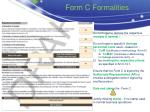 form c formalities