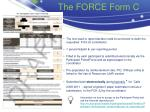 the force form c