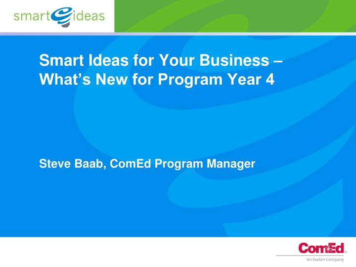 smart ideas for your business what s new for program year 4 n.