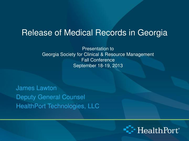 release of medical records in georgia n.