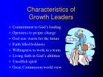 characteristics of growth leaders