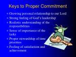 keys to proper commitment