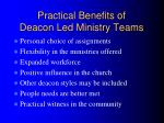 practical benefits of deacon led ministry teams
