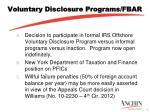 voluntary disclosure programs fbar