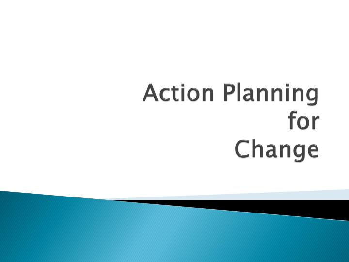 action planning for change n.