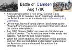 battle of camden aug 1780