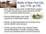 battle of new york city july 1776 p 179