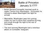 battle of princeton january 3 1777