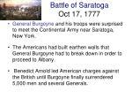 battle of saratoga oct 17 1777