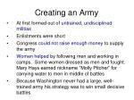 creating an army
