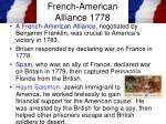 french american alliance 1778