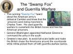the swamp fox and guerrilla warfare