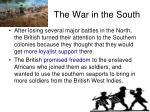 the war in the south