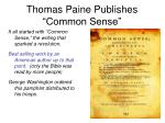 thomas paine publishes common sense