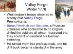 valley forge winter 1778