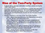 rise of the two party system