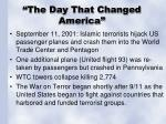 the day that changed america