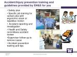 accident injury prevention training and guidelines provided by eh s for you