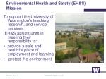 environmental health and safety eh s mission