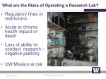 what are the risks of operating a research lab