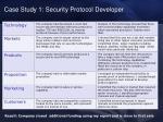 case study 1 security protocol developer