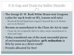 u s cap and trade for sulfur dioxide