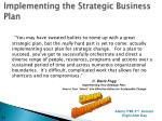 implementing the strategic business plan