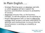 in plain english